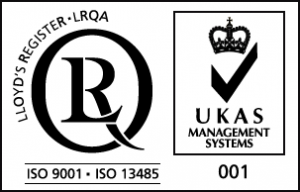 ISO9001, ISO13485 and UKAS, QA Logo Microsystems HR